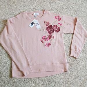 Jessica Simpson floral embroider sweatshirt size S